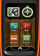 The Garmin Alpha GPS Home Screen