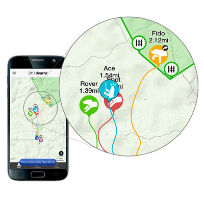 Dogtra Pathfinder App map detail