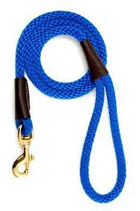 Mendota Blue 4 Foot Snap Leash