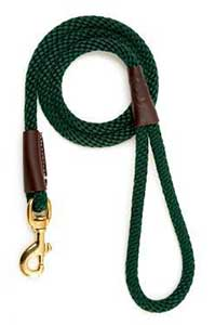 Mendota Hunter Green 4 Foot Snap Leash