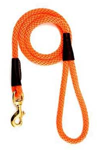 Mendota Orange 4 Foot Snap Leash