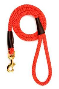Mendota Red 4 Foot Snap Leash