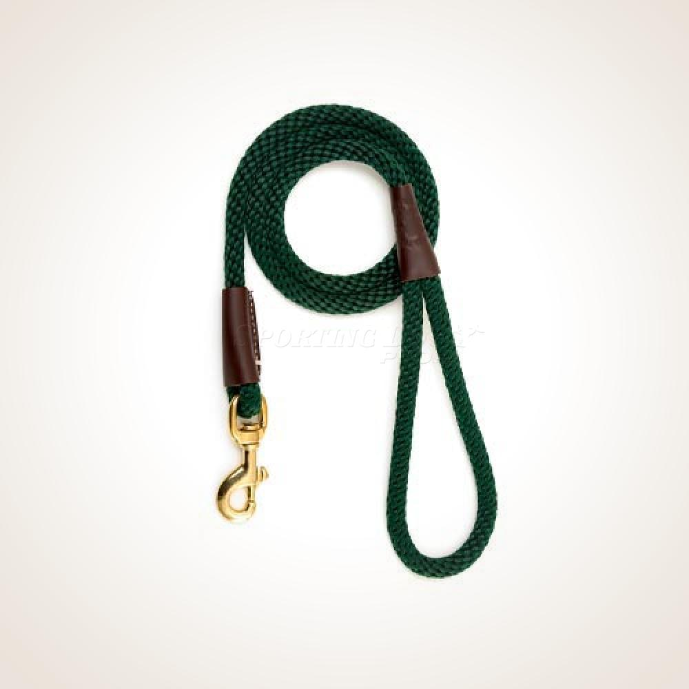 "Mendota 1/2"" x 4' Snap Leash - Hunter Green"