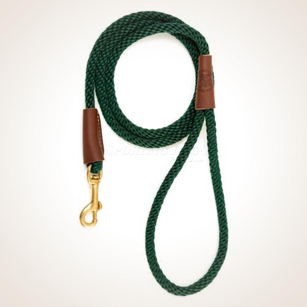 "Mendota 1/2"" x 6' Snap Leash - Hunter Green"