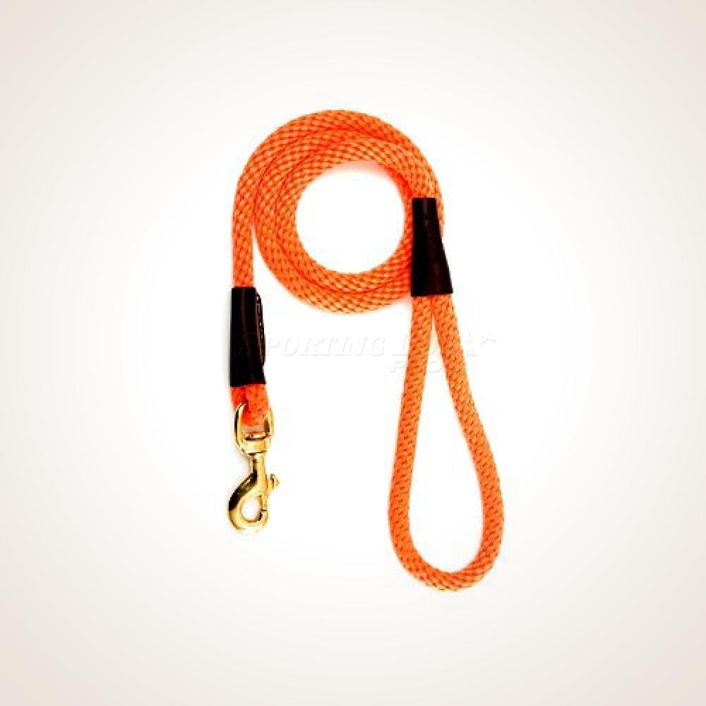 "Mendota 1/2"" x 4' Snap Leash - Orange"