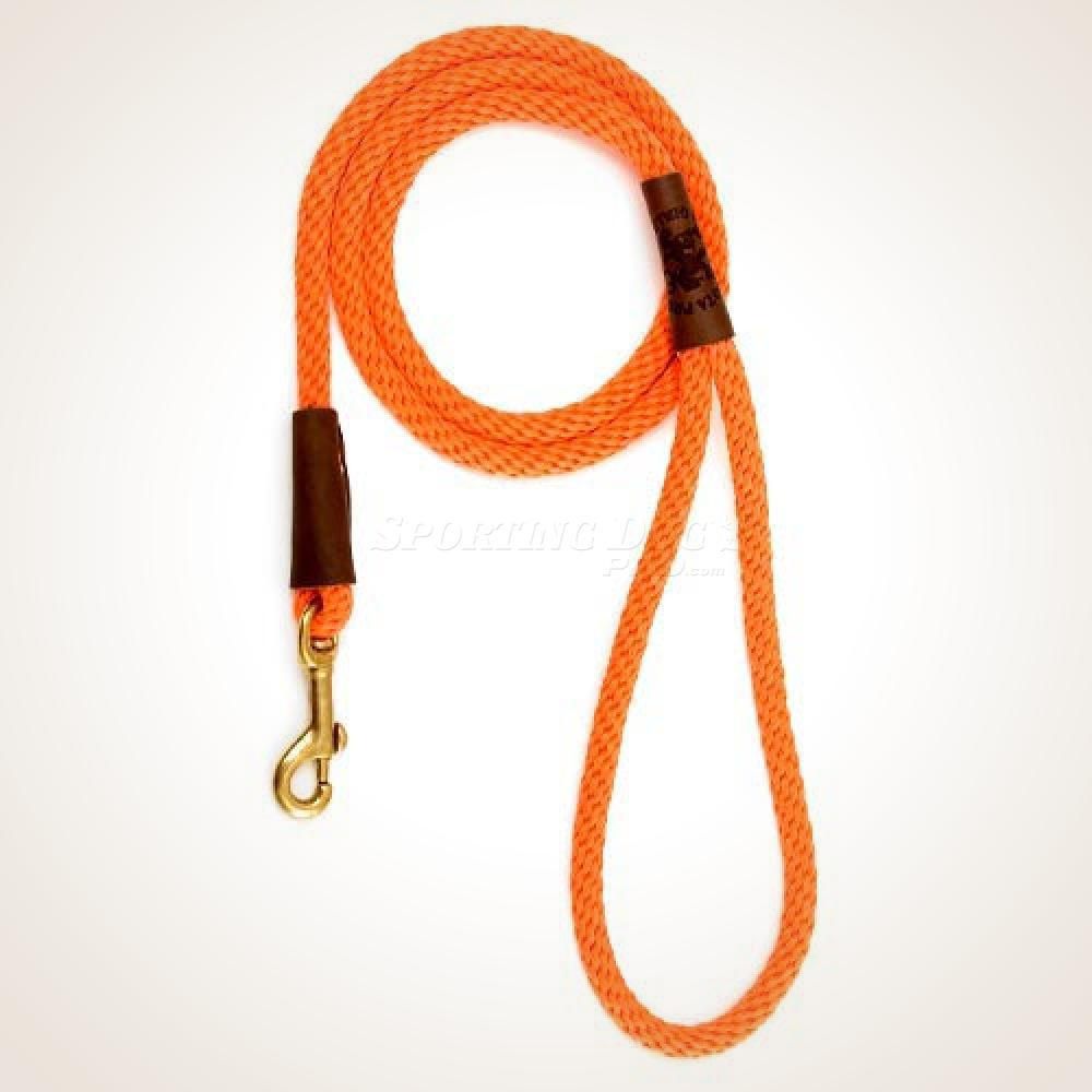 "Mendota 1/2"" x 6' Snap Leash - Orange"
