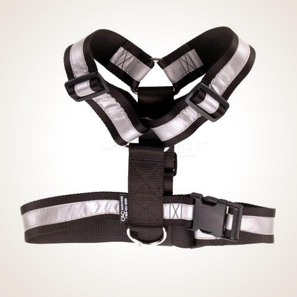 Mendota Heavy Duty Tracking Harness - Black w/ Reflective Stripe