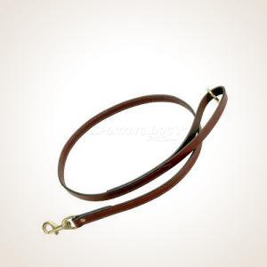 "Mendota 3/4"" x 4' Leather Flat Snap Leash"