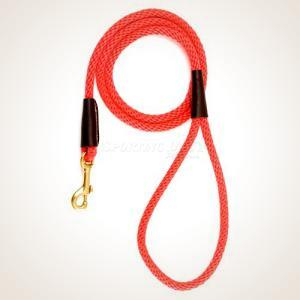 "Mendota 1/2"" x 6' Snap Leash - Red"